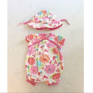 Angel Dear Summer Romper and Hat 0-3M